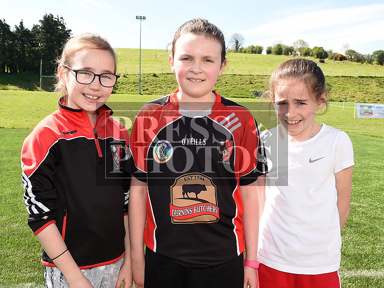 kate Johnson, Aoife Lynch and Sally Sherisan who took part in the St. Kevins charity relay run. Photo:Colin Bell/pressphotos.ie