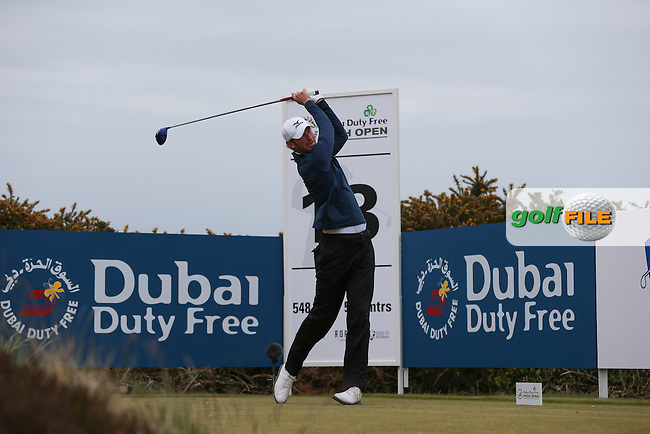 Chris Wood (ENG) drives to the 18th during Round Three of the 2015 Dubai Duty Free Irish Open Hosted by The Rory Foundation at Royal County Down Golf Club, Newcastle County Down, Northern Ireland. 30/05/2015. Picture David Lloyd | www.golffile.ie