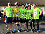 Matt Maguire, Andy Rogers, Fergal Leonard, Leonard Butterly and Andy Dunne at the Annagassan 10km.<br /> <br /> <br /> Photo - Jenny Matthews