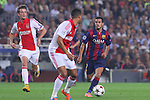21.10.2014 Barcelona, Spain. UEFA Champions League matchday 3 Group 3. Picture show Pedro in action during game between FC Barcelona against Ajax at Camp Nou