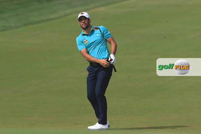 Adrian Otaegui (ESP) on the 3rd during Round 1 of the Omega Dubai Desert Classic, Emirates Golf Club, Dubai,  United Arab Emirates. 24/01/2019<br /> Picture: Golffile | Thos Caffrey<br /> <br /> <br /> All photo usage must carry mandatory copyright credit (© Golffile | Thos Caffrey)