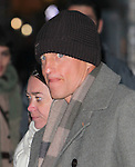 NEW YORK, NY - FEBRUARY 02: Actor Woody Harrelson arrives to 'Late Show with David Letterman' at Ed Sullivan Theater on February 2, 2012 in New York City.