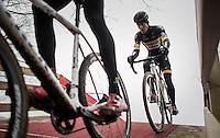 Tom Meeusen (BEL/Telenet-Fidea) close on his teammates wheel<br /> <br /> elite men's race<br /> GP Sven Nys 2017