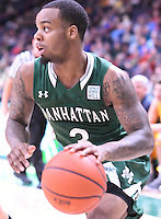 Siena defeats Manhattan 94-71 in a MAAC conference game on February 16, 2017 at the Times Union Center in Albany, New York.  (Bob Mayberger/Eclipse Sportswire)