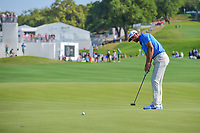 Dustin Johnson (USA) putts on 12 during round 7 of the World Golf Championships, Dell Technologies Match Play, Austin Country Club, Austin, Texas, USA. 3/26/2017.<br /> Picture: Golffile | Ken Murray<br /> <br /> <br /> All photo usage must carry mandatory copyright credit (&copy; Golffile | Ken Murray)