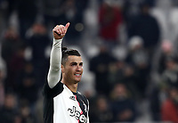 Calcio, Coppa Italia round 8 : Juventus - AS Roma, Turin, Allianz Stadium, January 22, 2020.<br /> Juventus' Cristiano Ronaldo celebrates after winning 3-1 the Italian Cup football round 8 match between Juventus and Roma at the Allianz stadium in Turin, January 22, 2020.<br /> UPDATE IMAGES PRESS/Isabella Bonotto