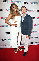 "LOS ANGELES, CA-  Lavern Cox, Christopher Racster, At 2017 Outfest Los Angeles LGBT Film Festival - Closing Night Gala Screening Of ""Freak Show"" at The Theatre at Ace Hotel, California on July 16, 2017. Credit: Faye Sadou/MediaPunch"