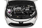 Car stock 2020 Toyota Corolla XLE 4 Door Sedan engine high angle detail view