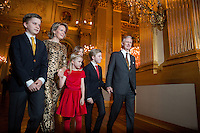 The Royal Belgian family attends the Christmas concert - Belgium