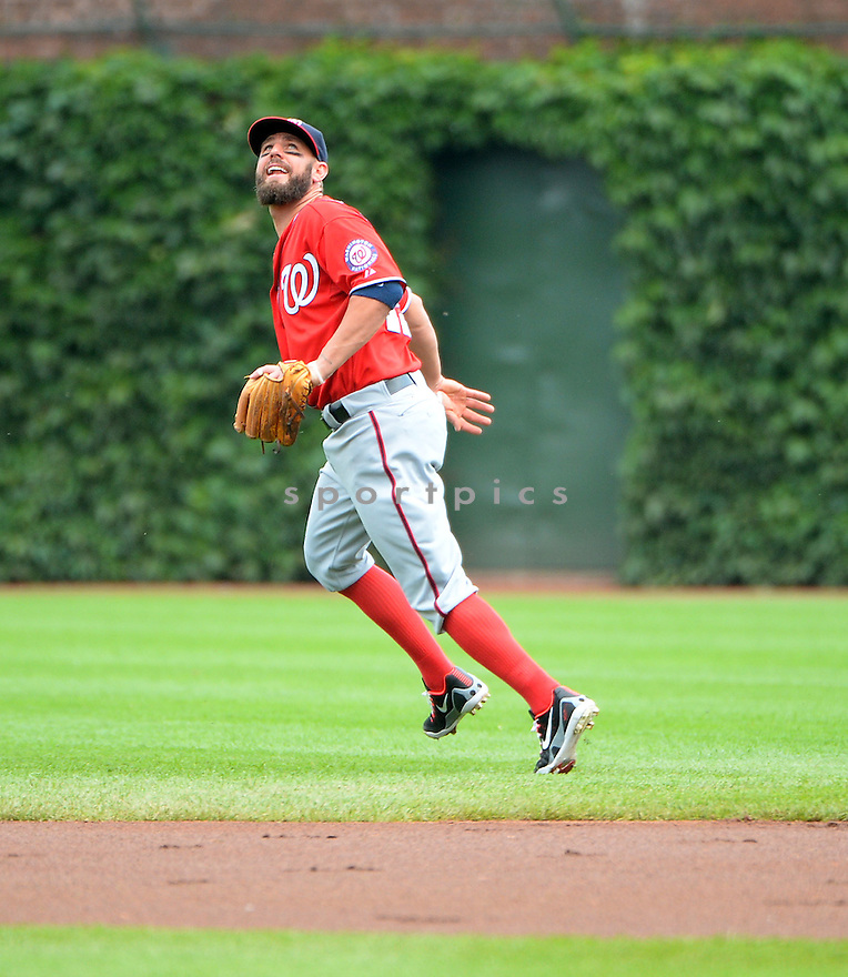Washington Nationals Kevin Frandsen (19) during a game against the Chicago Cubs on June 28, 2014 at Wrigley Field in Chicago, IL. The Nationals beat the Cubs 3-0.