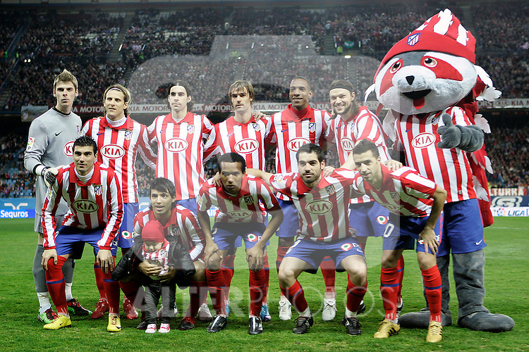 Atletico de Madrid's team photo during La Liga match.(ALTERPHOTOS/Acero)
