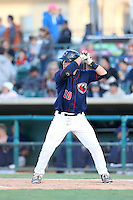Brian Holbertson (10) of the Lancaster JetHawks bats during a game against the San Jose Giants at The Hanger on April 11, 2015 in Lancaster, California. San Jose defeated Lancaster, 8-3. (Larry Goren/Four Seam Images)