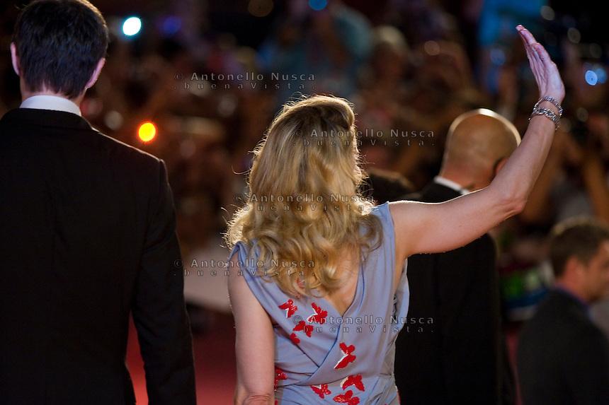 Madonna arriva al Palazzo del Cinema per la premiere del suo film 'W.E.'  al 68th Festival del cinema di Venezia