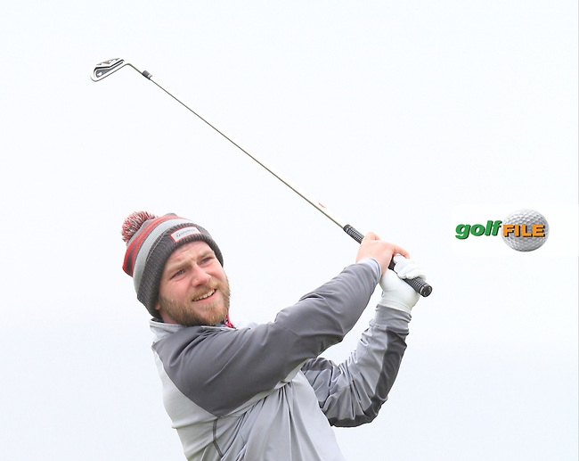 Michael Reid (Galgorm Castle) during the 36 hole stroke play qualifying on April 3rd 2015 for the 2015 West of Ireland Open Championship, Co. Sligo, Golf Club, Rosses Point, Sligo, Ireland.<br /> Picture: Thos Caffrey / Golffile