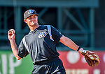 21 July 2016: Hudson Valley Renegades infielder Jim Haley warms up prior to a game against the Vermont Lake Monsters at Centennial Field in Burlington, Vermont. The Lake Monsters edged out the Renegades 4-3 in NY Penn League play. Mandatory Credit: Ed Wolfstein Photo *** RAW (NEF) Image File Available ***