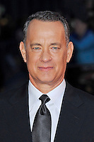 Tom Hanks<br /> attending the 57th BFI London Film Festival Closing Night Gala World Premiere of 'Saving Mr Banks', Odeon Cinema, Leicester Square, London, England. <br /> 20th October 2013<br /> headshot portrait black suit tie white shirt <br /> CAP/MAR<br /> © Martin Harris/Capital Pictures