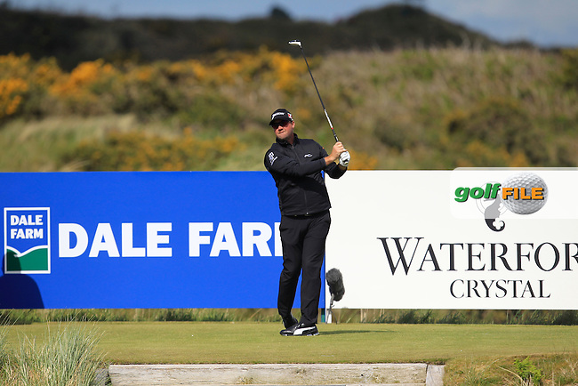 Peter Hanson (SWE) on the 9th tee during Round 1 of the 2015 Dubai Duty Free Irish Open, Royal County Down Golf Club, Newcastle Co Down, Northern Ireland. 28/05/2015<br /> Picture Thos Caffrey, www.golffile.ie