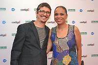 RIO DE JANEIRO, RJ, 23 JULHO 2012 - PREMIO CONTIGO DE MPB -  Pedro Luis e Teresa Cristina na cerimonia de entrega do primeiro Premio Contigo de Musica Popular Brasileira, no espaco Miranda, zona sul do rio.(FOTO: MARCELO FONSECA / BRAZIL PHOTO PRESS).