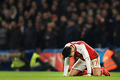 10th January 2018, Stamford Bridge, London, England; Carabao Cup football, semi final, 1st leg, Chelsea versus Arsenal; A dejected Alexis Sanchez of Arsenal
