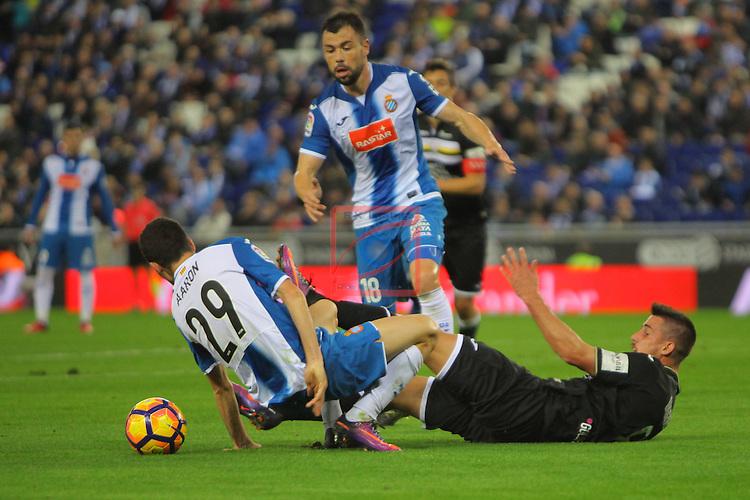 League Santander 2016/2017. Game: 13.<br /> RCD Espanyol vs CD Leganes: 3-0.<br /> Gabriel vs Aaron Martin.