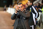 St Johnstone v St Mirren...20.09.11   Scottish Communities League Cup Third Round.Danny Lennon applauds the fans.Picture by Graeme Hart..Copyright Perthshire Picture Agency.Tel: 01738 623350  Mobile: 07990 594431
