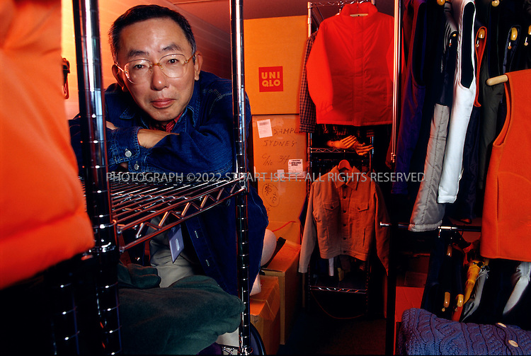 4/30/2001--Tokyo, Japan..Tadashi Yanai, CEO of UNIQLO....All photographs ©2003 Stuart Isett.All rights reserved.This image may not be reproduced without expressed written permission from Stuart Isett.