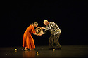 "London, UK. 12.09.2014. Sadler's Wells presents the Elixir Festival's "" KnowBody: a lifetime of experiences"". Picture shows:  Mats Ek & Ana Laguna in POTATO. Photograph © Jane Hobson."