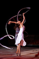 "Daria Kushnerova of Ukraine performs in gala at 2008 World Cup Kiev, ""Deriugina Cup"" in Kiev, Ukraine on March 23, 2008."