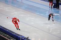 SPEEDSKATING: SOCHI: Adler Arena, 24-03-2013, Essent ISU World Championship Single Distances, Day 4, 500m Men, Artur Was (POL), Tucker Fredricks (USA), © Martin de Jong