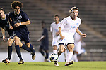 02 October 2012: UNC's Andy Craven (10) and Georgia Southern's Drew Ruggles (20). The University of North Carolina Tar Heels defeated the Georgia Southern Eagles 2-0 at Fetzer Field in Chapel Hill, North Carolina in a 2012 NCAA Division I Men's Soccer game.