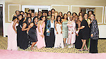 """President Delaina Dixon wearing Nicole Miller on the pink carpet, mom Alexandreena (in pink) and sorority members - Alpha Kappa Alpha Sorority, Incorporated Pi Psi Omega Chapter welcomes you to """"A Pink Carpet Affair"""" - celebrating 25 years of Sisterhood and Service on June 9, 2012 at the Comfort Inn and Suites, Nanuet, New York.  (Photo by Sue Coflin/Max Photos)"""