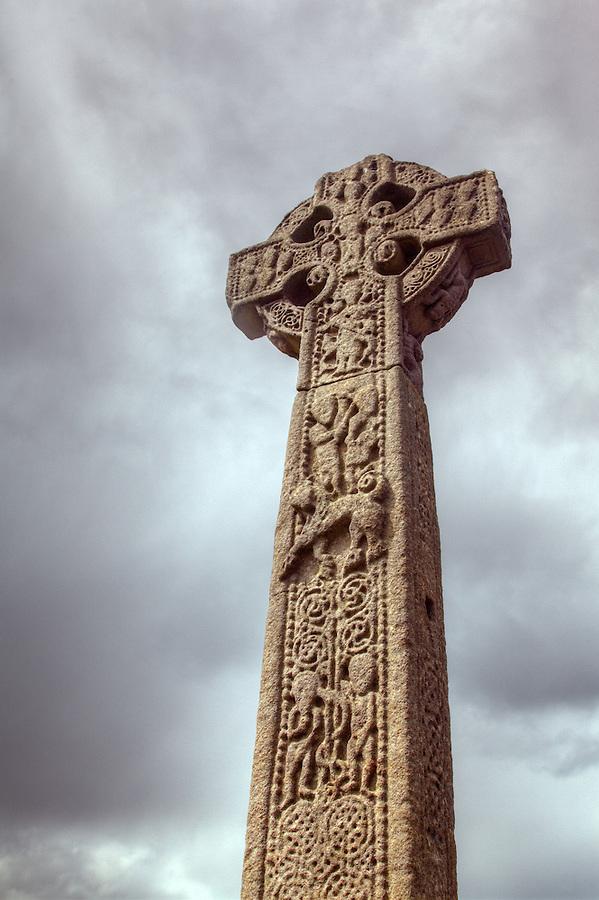 Celtic High Cross in Drumcliffe Cemetery, St. Columba's Church, Drumcliffe, County Sligo, Republic of Ireland
