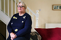 2017 08 13 Carolyn Churchill at her house in Pontypridd, Wales, UK