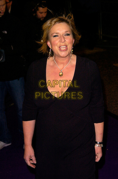 FERN BRITTON.British Comedy Awards 2007, London Studios, South Bank, London, England. .December 5th 2007.half length black dress watch bracelet 3/4 funny face mouth open.CAP/CAN.©Can Nguyen/Capital Pictures