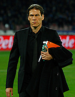 Rudi Garcia during the Italian Serie A soccer match between SSC Napoli and AS Roma   at San Paolo stadium in Naples, March 09 , 2014