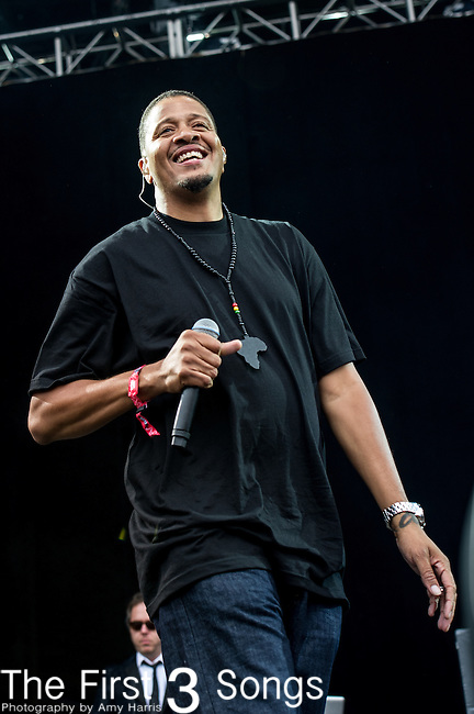 Chali 2na (Charles Stewart) of Jurassic 5 performs at the Outside Lands Music & Art Festival at Golden Gate Park in San Francisco, California.