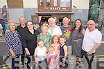 The Leane family outside the Abbey inn from left: Claire, Daniel, Sandie, Amy, Tess, Taylor Kate, Hollie, Danny Snr, Orlaith, Meanus, Audrey and Kerry Leane.