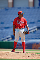 Philadelphia Phillies pitcher Nicoly Pina (78) during an Instructional League game against the Toronto Blue Jays on September 17, 2019 at Spectrum Field in Clearwater, Florida.  (Mike Janes/Four Seam Images)