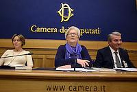 Roma, 9 Marzo 2015<br /> Conferenza stampa per presentare le iniziative politiche e sanitarie a favore dell'autismo in attesa della prossima giornata mondiale del 2 Aprile.<br /> Nella foto la ministra della Sanit&agrave; Beatrice Lorenzin, Paola Binetti e Massimo Piccioni coordinatore INPS
