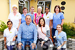The staff at Oaklands Nursing Home enjoying their party on Sunday..<br /> Front l-r, Anju John, Michael O&rsquo;Donoghue (Register Provider), Mary O&rsquo;Donoghue and Jane Downey.<br /> Back l-r, Bridie Noonan, Mary Ann McElligott, James Riordan, Kay Keane, Ann Anu Paul, Margaret Helly.