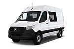 2019 Mercedes Benz Sprinter-Crew-Van Base 4 Door Combi angular front stock photos of front three quarter view