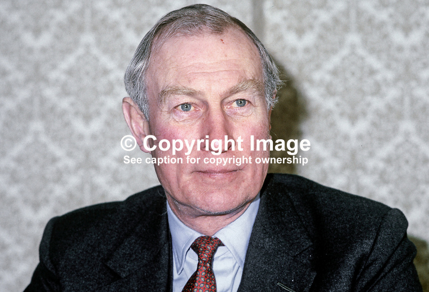 Leonard Figg, later Sir Leonard Figg, UK ambassador to Rep of Ireland, 198102000025LF1..Copyright Image from Victor Patterson, 54 Dorchester Park, Belfast, United Kingdom, UK...For my Terms and Conditions of Use go to http://www.victorpatterson.com/Victor_Patterson/Terms_%26_Conditions.html