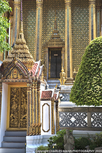 Wat Phra Kaew at the Grand Palace in the Ko Rattanakosin district in downtown Bangkok.