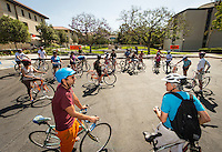 A group takes a bicycle tour of Eagle Rock and Highland Park, led by UEPI faculty.<br /> Occidental College alums enjoy a long weekend of activities and festivities both on campus and off during Alumni Reunion Weekend, June 22, 2013.<br /> (Photo by Marc Campos, Occidental College Photographer)