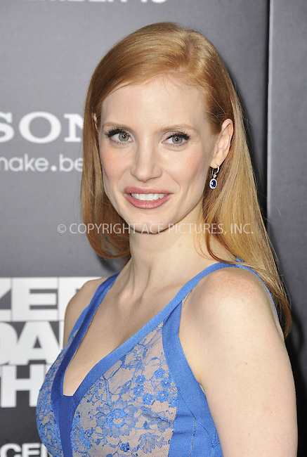 WWW.ACEPIXS.COM....December 10 2012, New York City....Jessica Chastain arriving at the 'Zero Dark Thirty' Los Angeles premiere at Dolby Theatre on December 10, 2012 in Hollywood, California.....By Line: Peter West/ACE Pictures......ACE Pictures, Inc...tel: 646 769 0430..Email: info@acepixs.com..www.acepixs.com