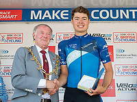 Picture by Allan McKenzie/SWpix.com - 16/07/17 - Cycling - HSBC UK British Cycling Grand Prix Series - Velo29 Altura Stockton Grand Prix - Stockton, England - Bike Channel Canyon's Harry Tanfield takes the Local Rider Award at the Stockton GP.