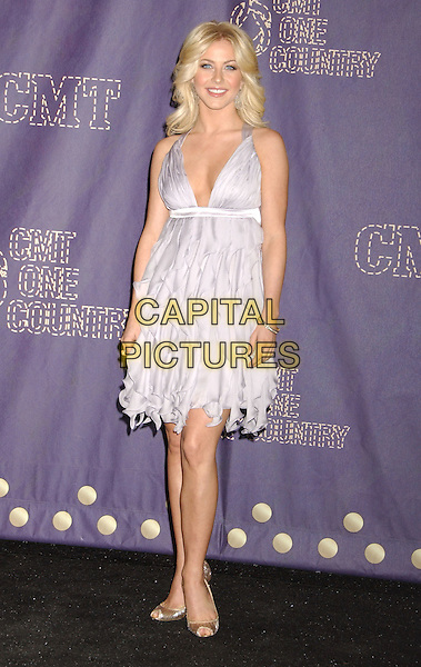JULIANNE HOUGH.2008 CMT Music Awards held at Curb Center, Nashville, Tennessee, USA..April 14th, 2008.full length lilac purple low cut neckline dress .CAP/ADM/LF.©Laura Farr/AdMedia/Capital Pictures.
