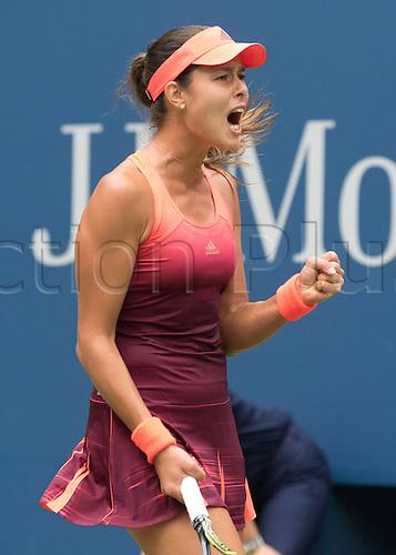 31.08.2015. New York, NY, USA.  Ana Ivanovic (SRB) U.S. Open 2015 Grand Slam ITF  WTA womens 1st round Flushing Meadows 31st August 2015