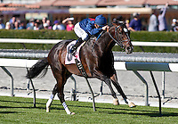 February 04, 2011. Mr. Commons and Mike Smith win the Arcadia Stakes(GII) at Santa Anita Park in Arcadia, CA.