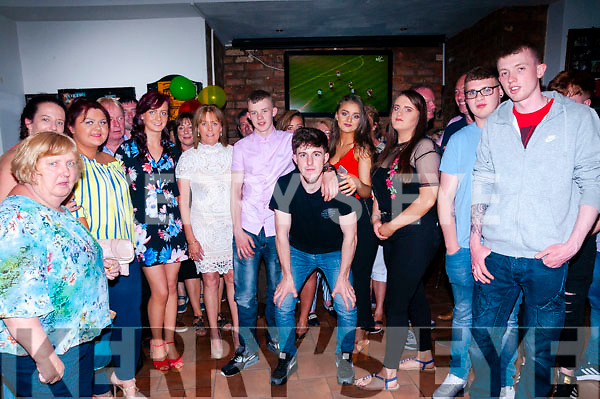 18th Birthday : Niall Stack, Listowel celebrating his 18th birthday with family & friends at Brosnan's Bar, Listowel on Saturday night last.